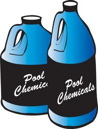 pool chemical Bottles